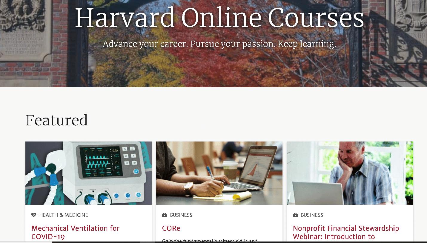 Harvard Online Learning
